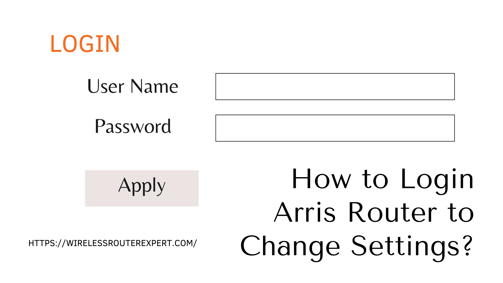 How to Login Arris Router to Change Settings