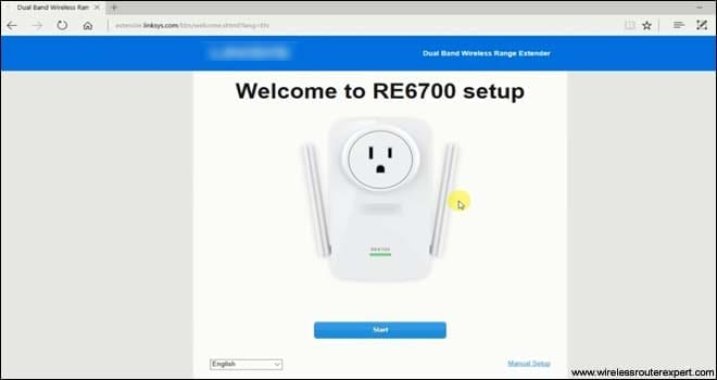 Linksys welcome page