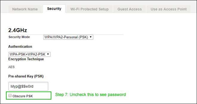 See your password
