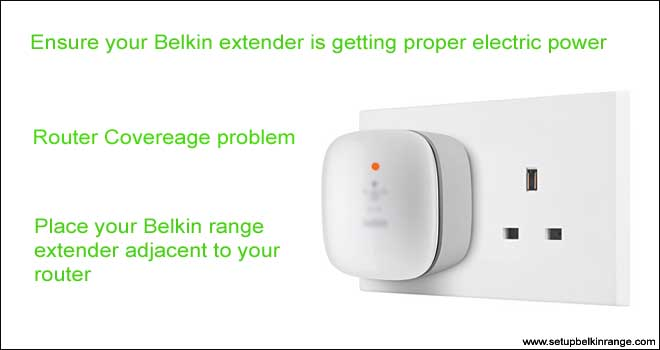 Trouble shoot belkin range ext orange blink
