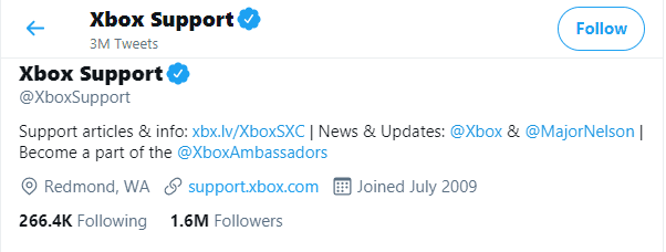 xbox twitter support