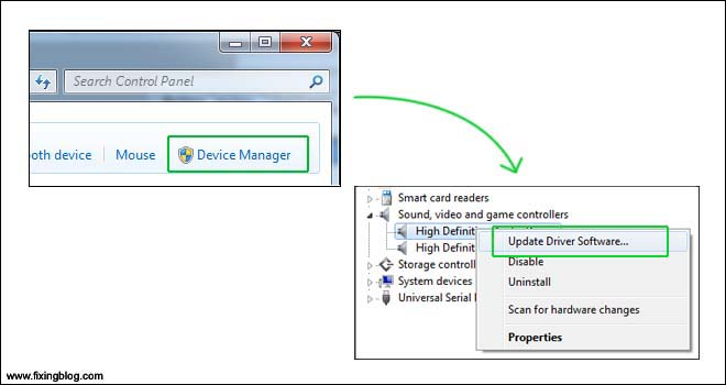 Update device driver of sound