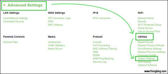Advanced Settings in belkin Router