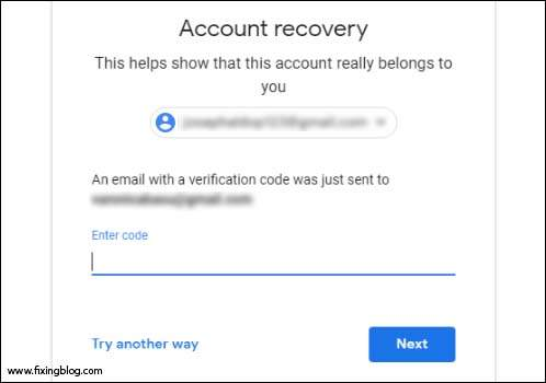 account recovery