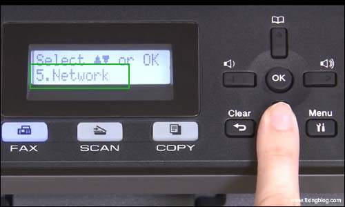 Select Network in Brother Printer_1