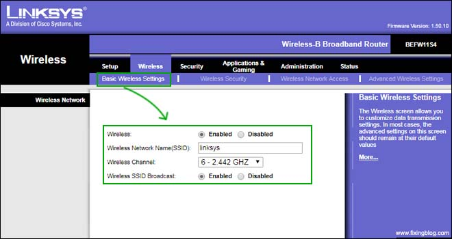 setup linksys router